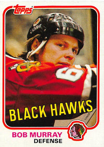 1981-82 Topps #W73 Bob Murray NM-MT Hockey NHL Blackhawks