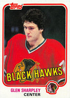 1981-82 Topps #W76 Glen Sharpley NM-MT Hockey NHL Blackhawks