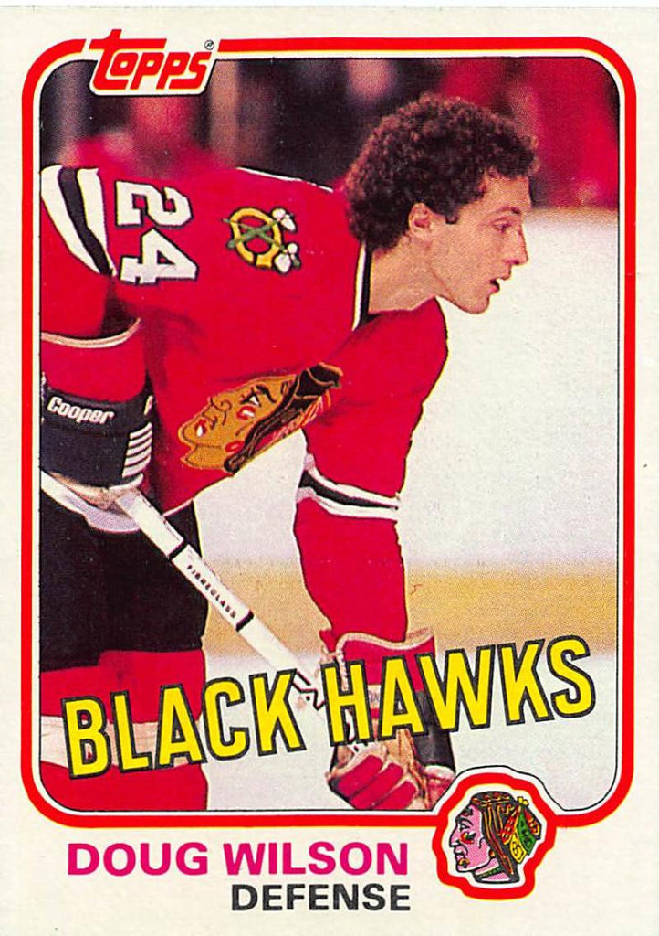 1981-82 Topps #W78 Doug Wilson NM-MT Hockey NHL Blackhawks