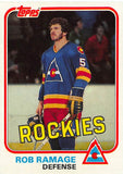 1981-82 Topps #W84 Rob Ramage NM-MT Hockey NHL Rockies