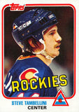 1981-82 Topps #W86 Steve Tambellini NM-MT Hockey NHL Rockies