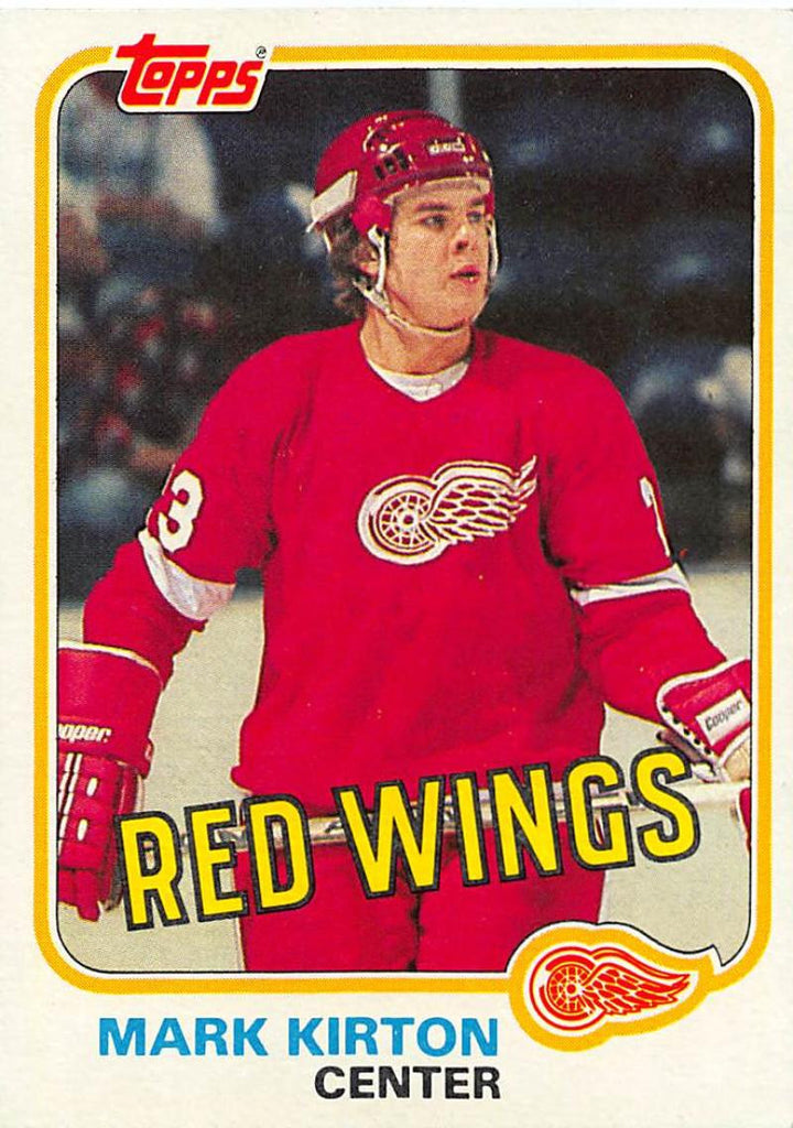 1981-82 Topps #W90 Mark Kirton NM-MT Hockey NHL RC Rookie Red Wings