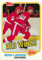 1981-82 Topps #W92 Reed Larson NM-MT Hockey NHL Red Wings