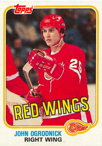 1981-82 Topps #W95 John Ogrodnick NM-MT Hockey NHL Red Wings