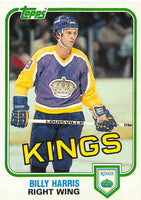 1981-82 Topps #W96 Billy Harris NM-MT Hockey NHL Kings