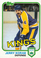 1981-82 Topps #W97 Jerry Korab NM-MT Hockey NHL Kings