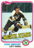 1981-82 Topps #W104 Steve Christoff NM-MT Hockey NHL North Stars