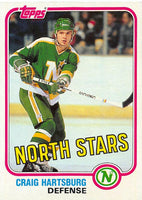 1981-82 Topps #W106 Craig Hartsburg NM-MT Hockey NHL North Stars