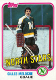 1981-82 Topps #W109 Gilles Meloche NM-MT Hockey NHL North Stars