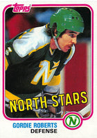 1981-82 Topps #W111 Gordie Roberts NM-MT Hockey NHL North Stars