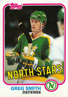 1981-82 Topps #W112 Greg Smith NM-MT Hockey NHL North Stars
