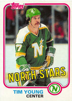 1981-82 Topps #W113 Tim Young NM-MT Hockey NHL North Stars