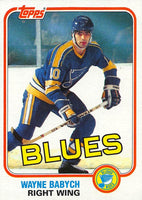 1981-82 Topps #W114 Wayne Babych NM-MT Hockey NHL Blues