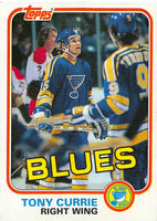 1981-82 Topps #W116 Tony Currie NM-MT Hockey NHL Blues