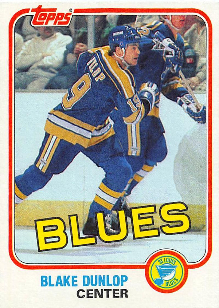 1981-82 Topps #W117 Blake Dunlop NM-MT Hockey NHL Blues