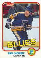 1981-82 Topps #W119 Rick Lapointe NM-MT Hockey NHL Blues