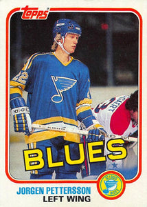 1981-82 Topps #W121 Jorgen Pettersson NM-MT Hockey NHL RC Rookie Blues