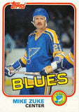 1981-82 Topps #W124 Mike Zuke NM-MT Hockey NHL Blues