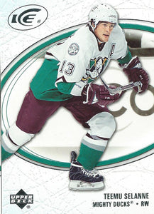 2005-06 Ice #4 Teemu Selanne MINT Hockey NHL Ducks