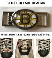 Boston Bruins NHL Shoelace Charms for Skates, Shoes, Bracelets etc.