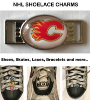 Calgary Flames NHL Shoelace Charms for Skates, Shoes, Bracelets etc.