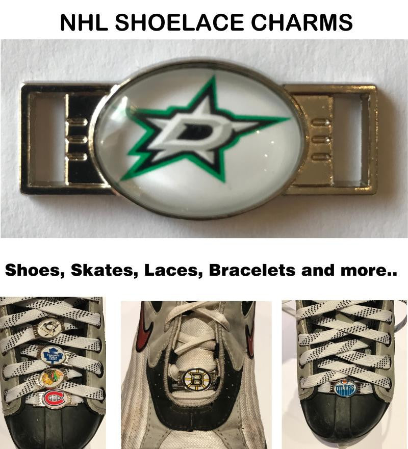 Dallas Stars NHL Shoelace Charms for Skates, Shoes, Bracelets etc.