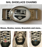 Los Angeles Kings NHL Shoelace Charms for Skates, Shoes, Bracelets etc.