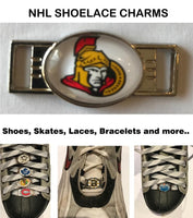 Ottawa Senators NHL Shoelace Charms for Skates, Shoes, Bracelets etc.