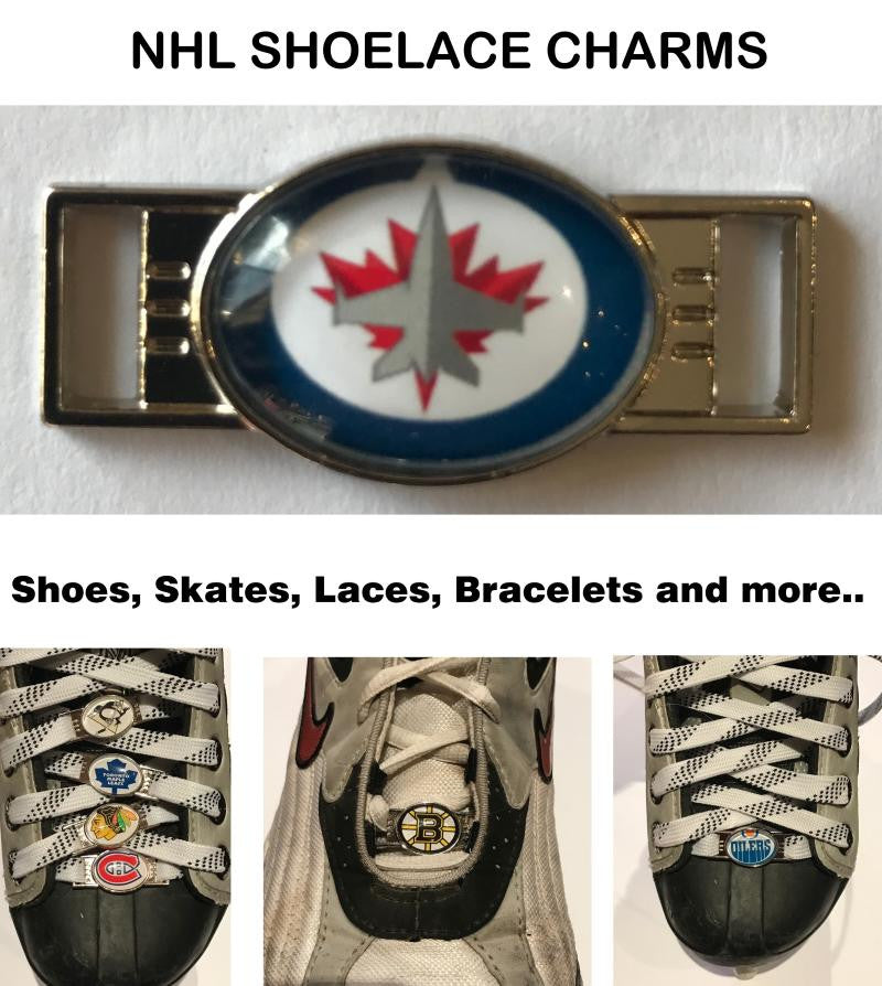 Winnipeg Jets NHL Shoelace Charms for Skates, Shoes, Bracelets etc.