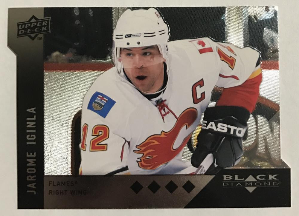 2009 Black Diamond Horizontal Perimeter Die-Cut #BD13 Jarome Iginla NM-MT 02750