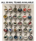 Columbus Blue jackets NHL Clip Charm for Bracelets, Necklaces, etc.