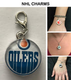 Edmonton Oilers NHL Clip Charm for Bracelets, Necklaces, etc.