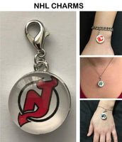 New Jersey Devils NHL Clip Charm for Bracelets, Necklaces, etc.