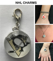 Pittsburgh Penguins NHL Clip Charm for Bracelets, Necklaces, etc.