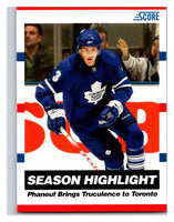 (HCW) 2010-11 Score Glossy #18 Dion Phaneuf Maple Leafs Mint