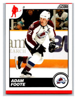 (HCW) 2010-11 Score Glossy #147 Adam Foote Avalanche Mint