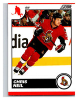 (HCW) 2010-11 Score Glossy #340 Chris Neil Senators Mint