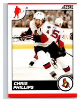 (HCW) 2010-11 Score Glossy #346 Chris Phillips Senators Mint