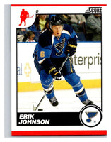 (HCW) 2010-11 Score Glossy #421 Erik Johnson Blues Mint