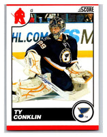 (HCW) 2010-11 Score Glossy #425 Ty Conklin Blues Mint