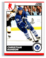 (HCW) 2010-11 Score Glossy #446 Christian Hanson Maple Leafs Mint
