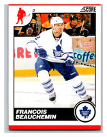 (HCW) 2010-11 Score Glossy #451 Francois Beauchemin Maple Leafs Mint