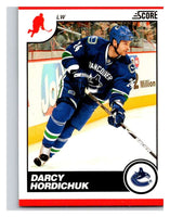 (HCW) 2010-11 Score Glossy #467 Darcy Hordichuk Canucks Mint