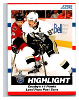 (HCW) 2010-11 Score Glossy #489 Sidney Crosby Penguins Mint