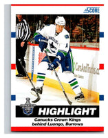 (HCW) 2010-11 Score Glossy #492 Alexandre Burrows Canucks Mint