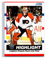 (HCW) 2010-11 Score Glossy #498 Michael Leighton Flyers Mint
