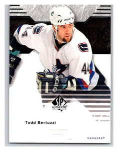 2003-04 SP Authentic #87 Todd Bertuzzi Mint