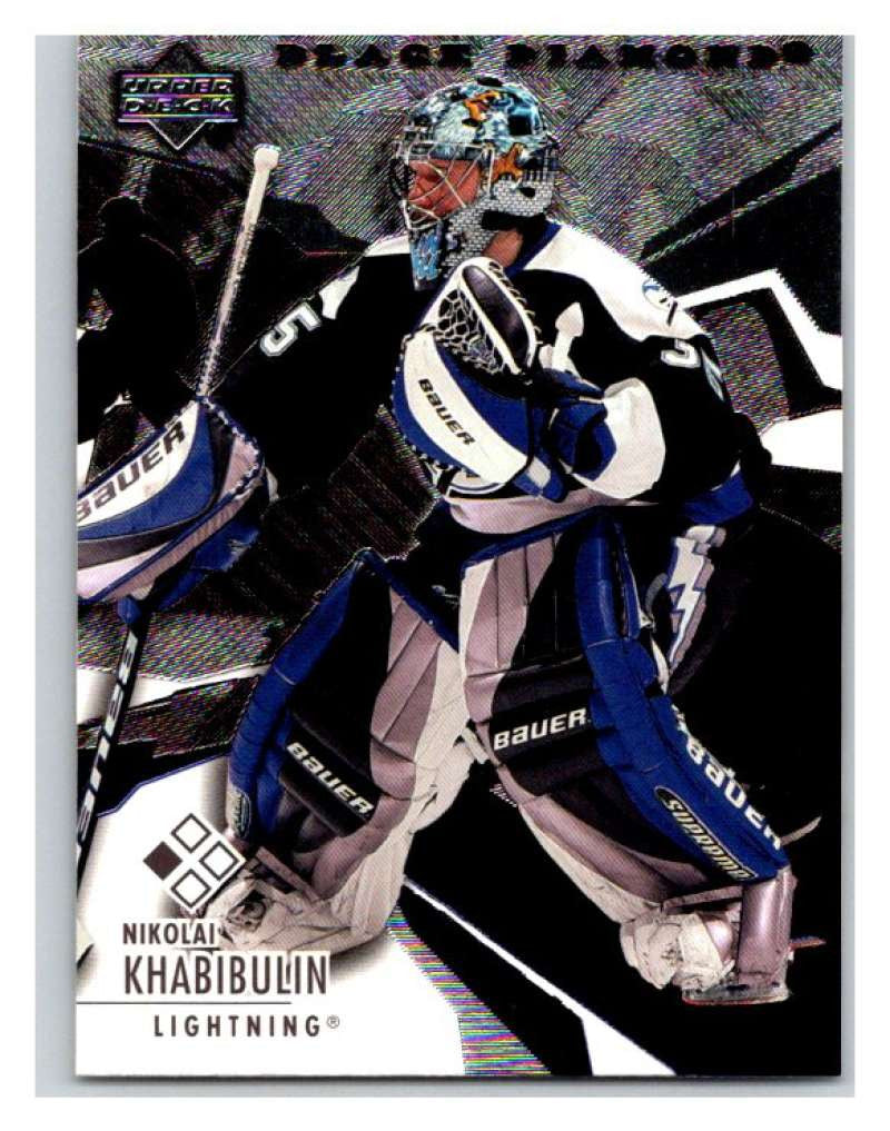2003-04 Black Diamond #21 Nikolai Khabibulin Mint UD