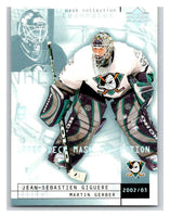(HCW) 2002-03 UD Mask Collection #1 Jean-Sebastien Giguere/Martin Gerber