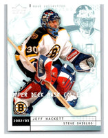 (HCW) 2002-03 UD Mask Collection #8 Jeff Hackett/Steve Shields Bruins